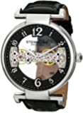Stuhrling Original Men's 667.01 Legacy Analog Display Mechanical Hand Wind Black Watch