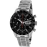 TAG Heuer Men's CV201AH.BA0725 Carrera Analog Display Swiss Automatic Black Watch