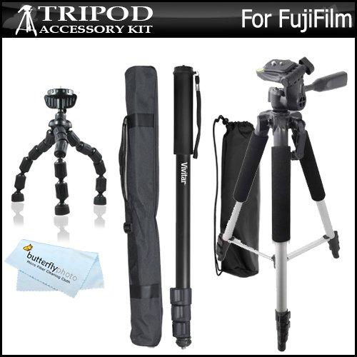 Pro Video Stabilizing Handle Grip for Fujifilm FinePix S9200 Vertical Shoe Mount Stabilizer Handle