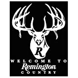 Remington Country White Die-Cut Vinyl Decal - Large R Buck (17423)