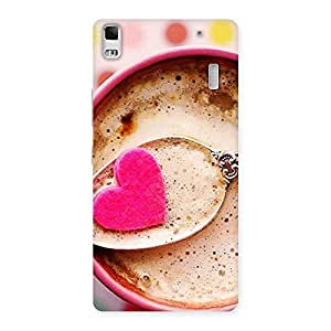 AJAYENTERPRISES Coffee With Heart Back Case Cover for Lenovo K3 Note
