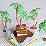 Palm Tree with Coconuts Cake Topper (8 Count)