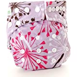 Bumkins Stuff-It Cloth Diaper, Purple Dandelion (Discontinued by Manufacturer)