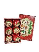 Decoracion Navideña Set Colgante decorativo 6 Uds. Árbol Navidad Calcetín Memory