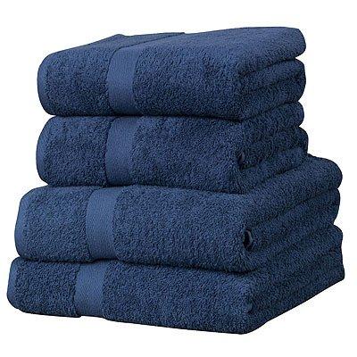 linens-limited-gastehandtuch-set-luxor-4-tlg-agyptische-baumwolle-600-g-m-marineblau