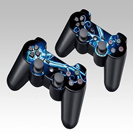 Flower Design Skin Decal Sticker for the PS3(Playstation 3) Controller (2pcs in 1)