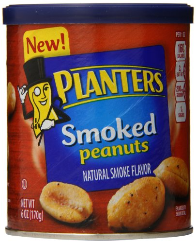 Planters Peanuts, Smoked, 6 Ounce (Pack Of 8)