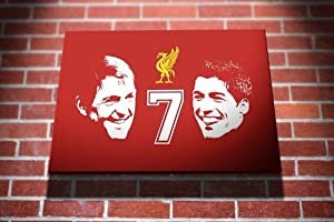 Kenny Dalglish Luis Suarez Number 7 Liverpool Fc Football Gallery Framed Canvas Art Picture Print by I Art Box