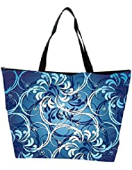 Snoogg Abstract Blue Pattern Designer Waterproof Bag Made Of High Strength Nylon - B01I1KMFE4
