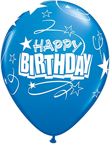 "Pioneer Balloon Company 5 Count Birthday Loops & Stars Latex Balloon, 11"", Assorted"