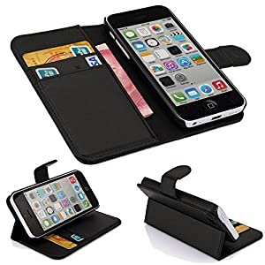 DN-TECHNOLOGY® Flip Pocket High Quality Leather Case with Stand Cover For Apple Iphone 5C / 5 C+ Screen Protector (0)