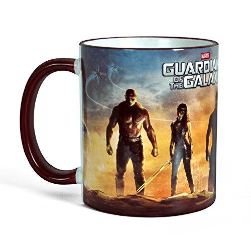 Guardians of the Galaxy - Tazza della Marvel con motivo di Rocket, Groot, Star Lord, Drax, Gamona nel deserto - Licenza ufficiale