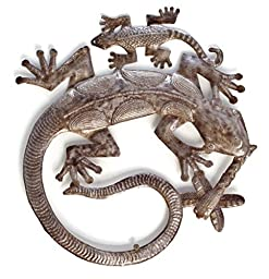 Gecko Family, Metal Garden Art, Handmade in Haiti 15\