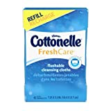 Kleenex Cottonelle FreshCare Flushable Cleansing Cloths Refill - 42 CT