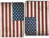 Minidandan USA Flag Leather Case Cover for Apple Ipad-mini Smart Folding Cover