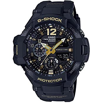 CASIO G-SHOCK MASTER OF G Vintage Black & Gold GRAVITYMASTER GA-1100GB-1AJF MENS JAPAN IMPORT