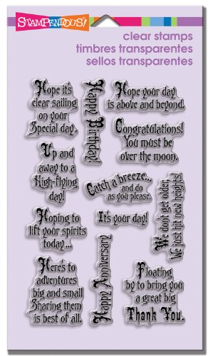 Image of Stampendous SSC1170 Perfectly Clear Stamp Set, Soaring Sentiments