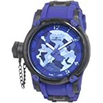 Russian DIver Special Ops Lefty Swiss Quartz Rubber Strap Blue