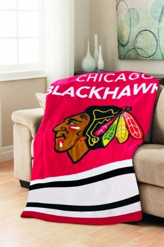 Sunbeam Nhl Fleece Heated Throw, Chicago Blackhawks