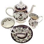 Queen Victoria China Six Cup Tea Set