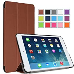 MoKo Apple iPad Mini with Retina Display Case - Ultra Slim Lightweight Smart shell Cover Case for Mini 2 (2013) and Mini (2012 Edition) COFFEE