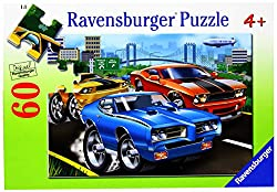 Ravensburger Puzzles Muscle Cars, Multi Color (60 Pieces)