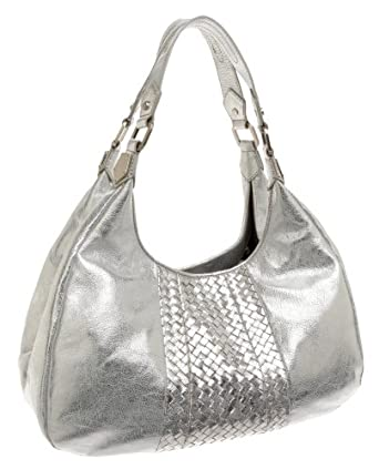 Elliott Lucca Carvela Large Hobo, Silver, one size: Handbags: Amazon