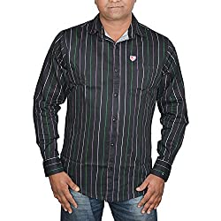 Hunk Men's black Cotton Shirt