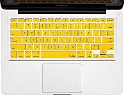 Kuzy - YELLOW Keyboard Cover Silicone Skin for MacBook Pro 13
