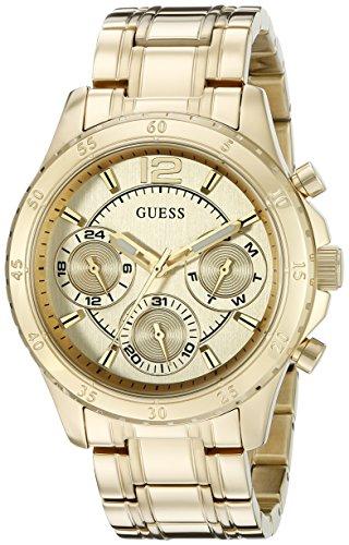 Guess Mujer u0704l1Classic Deportivo Gold-tone Reloj con Dial de multi-funciton