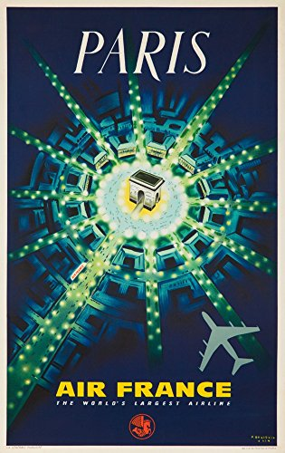 air-france-paris-vintage-poster-artist-baudouin-france-c-1947-24x36-collectible-giclee-gallery-print
