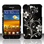 Samsung Epic 4G Touch D710 Galaxy S II Accessory – black/Silver Flower & Vines Design Protective Hard Case Cover for Sprint