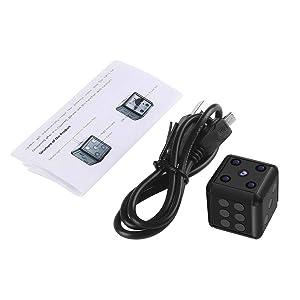 Crazepony Mini Hidden Spy Camera SQ16 1080P HD Nanny Cam Night Vision Portable Motion Detection FOV 90 Degree Sports Camera Mini DV Video Recorder (Color: SQ16-B)