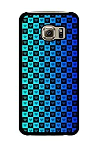 Caseque Radiant Aqua Blue Back Shell Case Cover For Samsung Galaxy S6 Edge