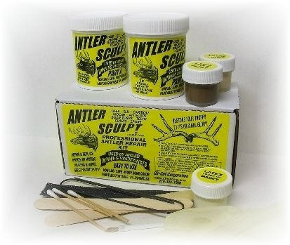 Antler Repair Kit – Antler Sculpt Do-It-Yourself Kit (12 oz.) Antler Art – Cir-Cut Corporation – Restore Your Trophy To Its Original Glory ! Deer – Elk – Claws – Teeth – Horns – Antlers