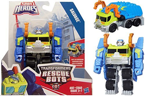 Transformers Rescue Bots Salvage Robot to Garbage Truck NIP 2015 (Garbage Robot compare prices)