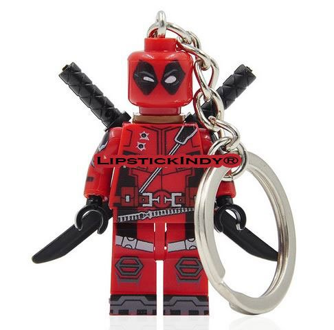 LipstickIndy® 2016 KEYCHAIN DEADPOOL MINIFIGURES X-MEN NEW RED SUITE (Lego Marvel Key compare prices)