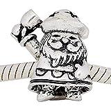 Charm Buddy Silver Plated Jolly Santa Father Christmas Bead Fit Pandora Bracelets