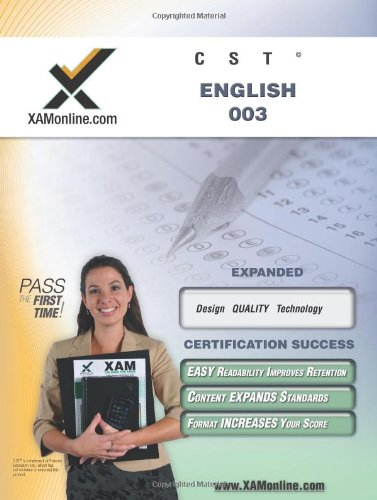 NYSTCE CST English 003 (XAMonline Teacher Certification Study Guides)