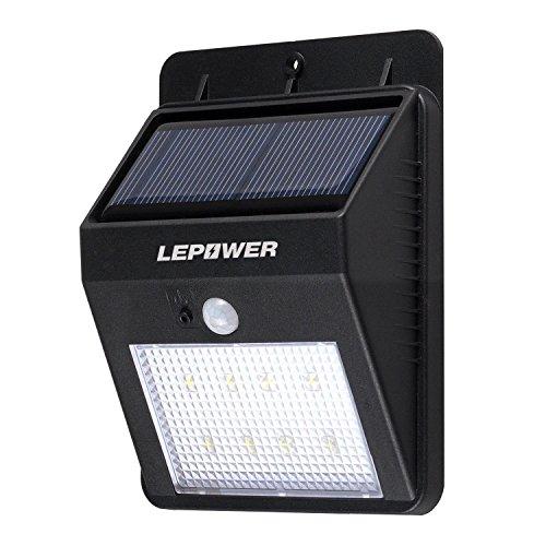LEPOWER 第三世代 ソーラーLEDライト センサー搭載 アウトドアライト