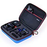 """Smatree® SmaCase G160 - Medium Gopro Case for Gopro Hero 4/3+/3/2/1 and Accessories (8.6"""" x6.7"""" x2.7"""") - Travel & Household Case with Excellent Cut EVA Foam Interior - Perfect Protection for Gopro Camera - Blue"""