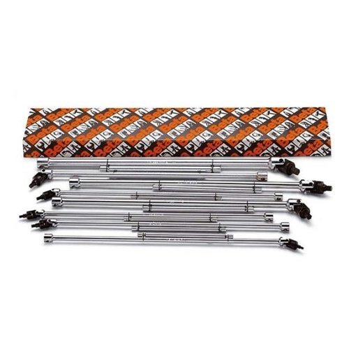 Beta-953TXS8-T-Handle-with-Swivelling-Socket-Torx-Socket-Wrench-Set-8-Piece-ranging-from-T20-to-T55-in-box-with-Chrome-Plated