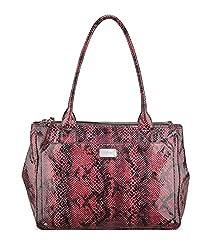 Nine West Double Vision Carryall Satchel Bag Handbag (Dark Cranberry)