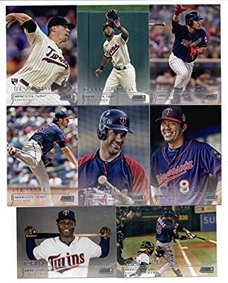 2015 Topps Stadium Club Baseball Cards Minnesota Twins Team Set (8 Cards) Including Phil Hughes, Joe Mauer, Kurt Suzuki, Torii Hunter