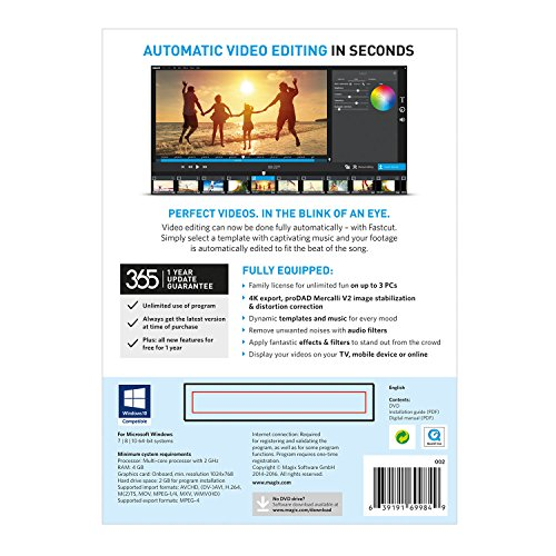 The free video editing software Fastcut