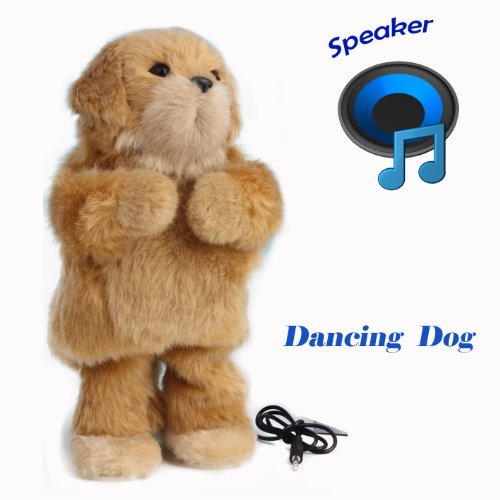"Thumbs up dancing toys speaker , toys Stands 12""Tall,Soft Toy Speaker compatible with PC, tablet , iPhone, iPod, Smartphone and MP3 Player etc (Yellow dog)"