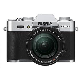 FUJIFILM デジタルカメラミラーレス一眼 X-T10レンズキット シルバー X-T10LK-S