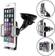 soporte Coche Bingsale iPhone 6 6S Sostenedor del coche Para Rejilla , montaje del coche del montaje del coche de 360   grados para el iPhone 6.6s Plus, 5 / 5S / 5C, iPhone 4 / 4S, Samsung Galaxy S6 Edge / S6 / S5 / S4 / Hoja 5 / Grado 4, HTC Uno M9 / M8 , LG G4 / G3