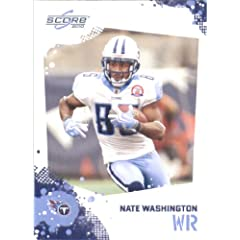 Nate Washington - Tennessee Titans - 2010 Score Football Card - NFL Trading Card in...