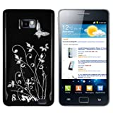 mumbi Schmetterling Blumen Hlle Samsung Galaxy S2 i9100 (Harte Rckseite)von &#34;mumbi&#34;